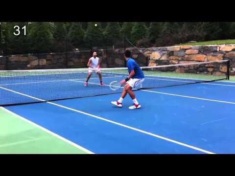 Nole i Dušan Vemić – demonstrirali kako se igra mini tenis