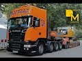 SCANIA R500 V8 HEAVY DUTY TRUCK HAULING CAT EXCAVATOR RIEDEL