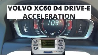 Volvo XC60 2.0 D4 Drive-E 181 KM - acceleration 0-100 km/h