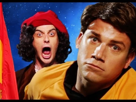 Columbus vs Captain Kirk.  Epic Rap Battles of History #14