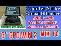 GPD WIN 2 Counter-Strike: Global Offensive on Handheld Mini PC - 256 GB SSD 8GB RAM m3-7Y30 HD 615