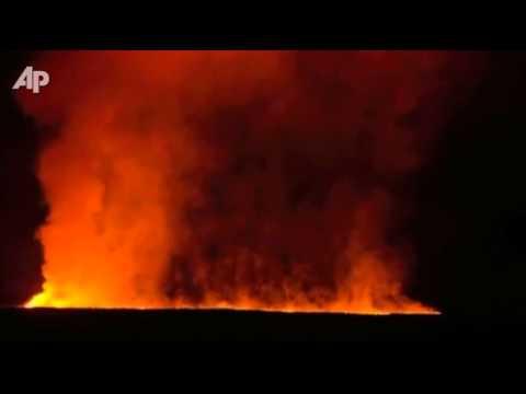 Raw Video: African Volcano Erupts