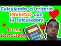 FUNCION INVERSA: Truco con calculadora (Criterio inverso)