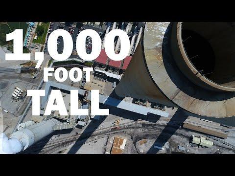 KEN HERON - Drone a 1,000 foot STACK and the DJI Phantom 4 Advanced [4K]