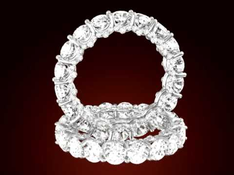 Diamond Prong-Set Round Eternity Wedding Ring
