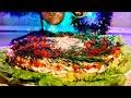 """Салат """"Облепиха"""" с Красной Икрой. Цыганка готовит. Обзор на регулируемую форму. Gipsy cuisine."""