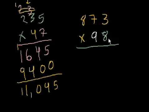 Moltiplicazione 7 - Vecchio video con altri esempi