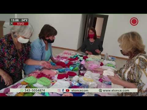 Tejedoras de Aldea María Luisa hicieron una donación al hospital San Roque