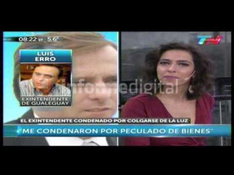 <b>Entrevista.</b> Luis Erro se defendió en TN por la condena por $100 de luz