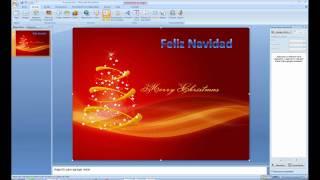Cómo hacer christmas multimedia con powerpoint