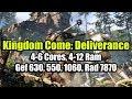 Kingdom Come: Deliverance на слабом ПК (4-6 Cores, 4-12 Ram, Geforce 630, 550, 1060, Radeon 7870)