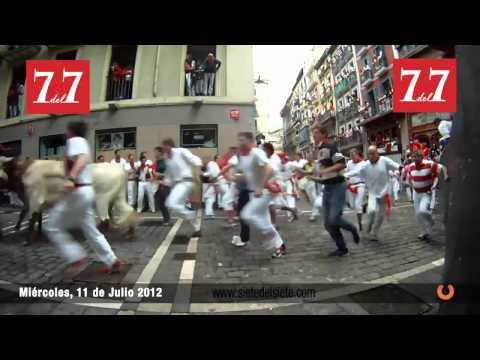 Encierro San Fermin Pamplona 11 de Julio 2012   Fuente Ymbro