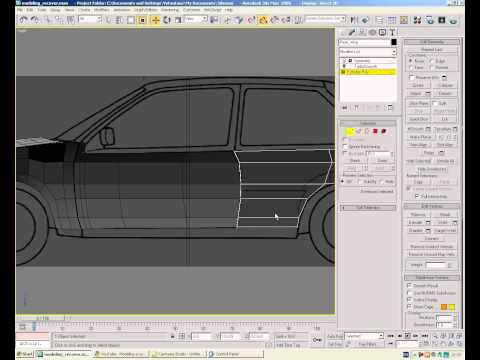 Modeling a car in 3ds max - Episode 9 - Rear Bumper