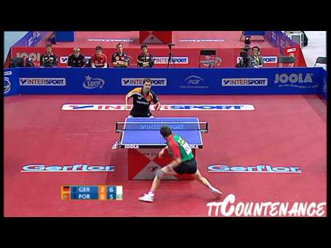 European Championships: Timo Boll-Joao Monteiro