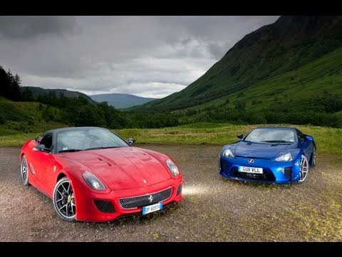 Lexus LFA v Ferrari 599 GTO in the Scottish Highlands- evo exclusive