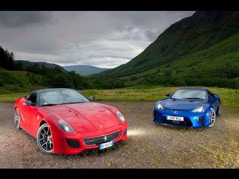 Lexus LFA v Ferrari 599 GTO in the Scottish Highlands- evo exclusive