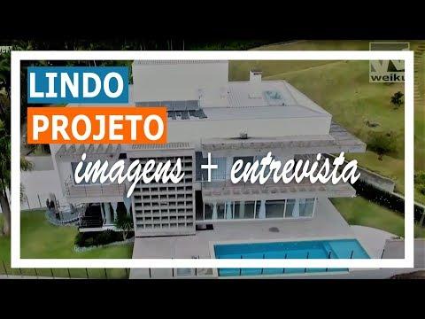 Conheça o Projeto - Linda Casa em Jaraguá do Sul com esquadrias de PVC Weiku