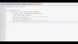 Beginner Java Calculator Tutorial