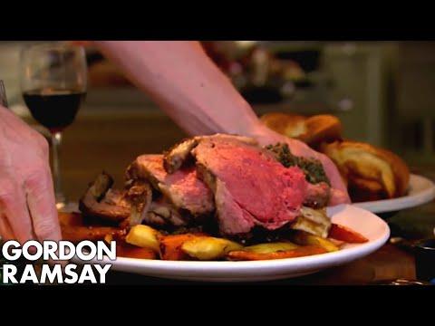 Stuffed Rib of Beef with Horseradish Yorkshire Puddings | Gordon Ramsay