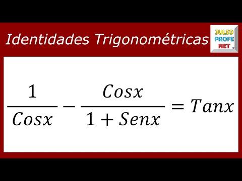 Demostrar una identidad trigonométrica
