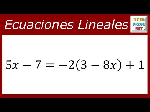 Solución de una ecuación lineal con una incógnita