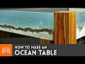 How to make an Ocean Table // Concrete and Epoxy Resin