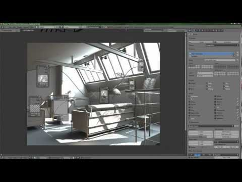Vray-like interior with blender and blender internal renderer, part 2
