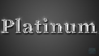 Adobe Photoshop CS6 Platinum Text Tutorial : Simple and Easy way