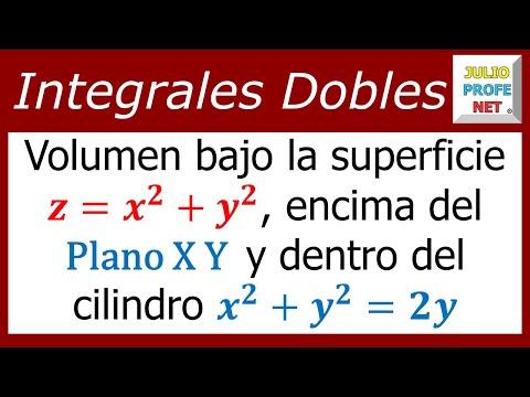 Volumen calculado con una Integral Doble en Coordenadas Polares