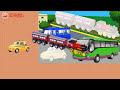 Фрагмент с средины видео - Пассажирский транспорт. Машинки на вокзале. Развивающий МУЛЬТИК ИГРА. Трафарет для малышей