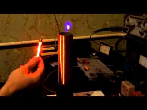 Ламповая катушка Тесла. Схема