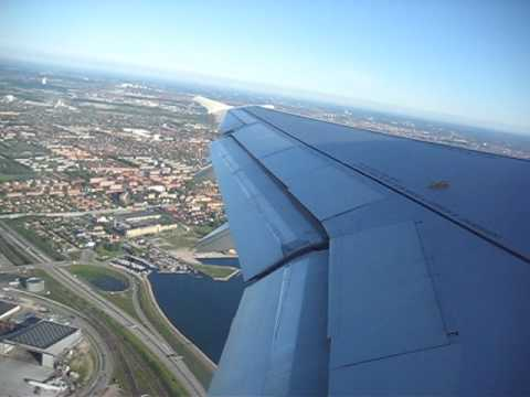 Air France A319 take-off Copenhagen (CPH)