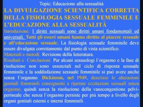 Sessualità e Orgasmo femminile-Aggiornamenti dal Congresso Italiano di Sessuologia FISS 2009