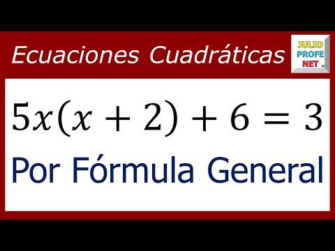 Solución de una ecuación cuadrática