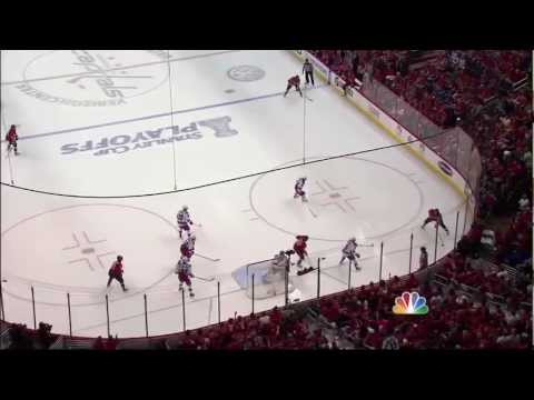 Nicklas Backstrom goal. NY Rangers vs Washington Capitals Game 4 5/5/12 NHL Hockey