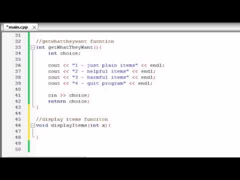 Buckys C++ Programming Tutorials - 69 - Finishing the Awesome Program