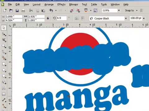 COREL DRAW LOGO CREATION  BY  VISION.mp4