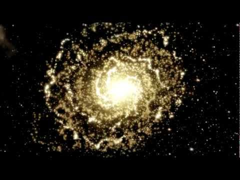 3D Animation of Galaxy (Quasar) rotating