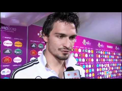 English interview with Germany's Mats Hummels after the win over Netherlands at Euro 2012