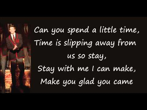 Glee(The Warblers) - Glad You Came (LYRICS) (Full Official Version) (HD & HQ)