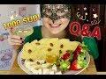 Мукбанг *1000 подписчиков* ОТВЕТЫ НА ВОПРОСЫ/ASMR Mukbang Q&A VIDEO 1000 SUB