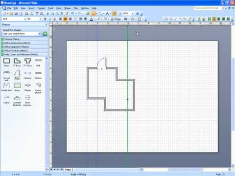Microsoft Visio scale drawing Part 2