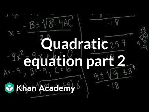 Quadratic Equation part 2