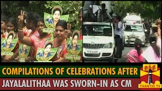 Watch Compilations of Celebrations after Jayalalithaa Sworn-in as CM Red Pix tv Kollywood News 23/May/2015 online