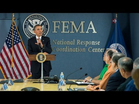 President Obama Delivers Remarks at FEMA Headquarters  10/8/13