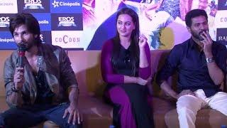Shahid Kapoor, Sonakshi Sinha & Prabhu Dheva promoting 'R...Rajkumar'