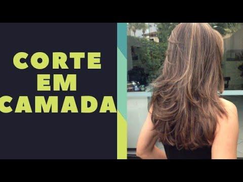 Corte de cabelo repicado em camadas por Meire Regina