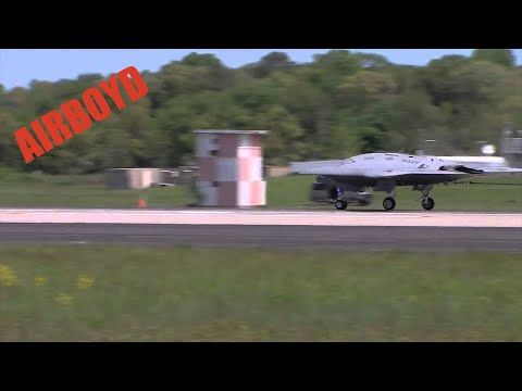 X-47B First Arrested Landing NAS Pax River