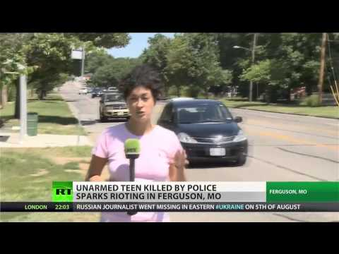 SWAT Team Throws Gas on (Protesters)  In Ferguson  In Front of Reporters  8/12/14