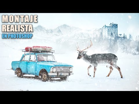Realistic Snow <b>Photoshop </b>Manipulation<b> Texture </b>video tutorial